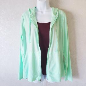Tek gear Drytek Mint Green Zip up Hoodie sweater